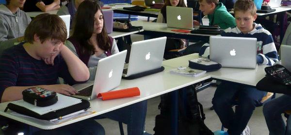 Laptop-Klasse der Gail S. Halvorsen Schule