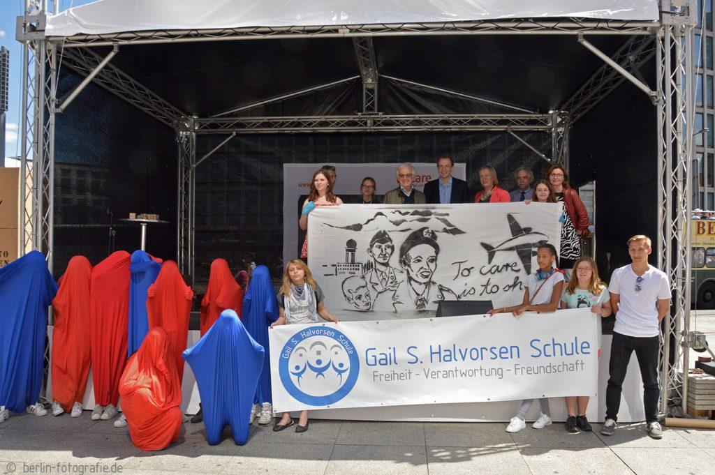 Veranstaltung zu 70 Jahre CARE am 11. Juni 2016 am Potsdamer Platz in Berlin.